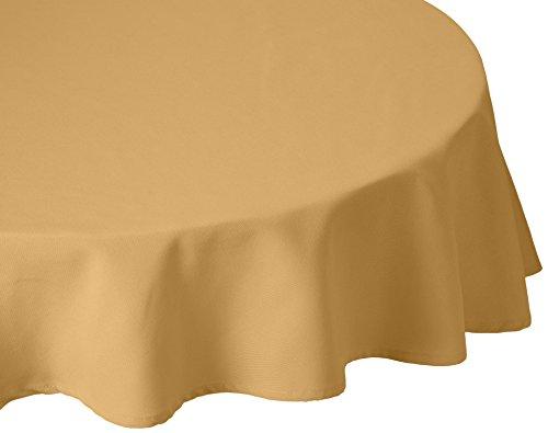 MAJEST(マジェスト) 円形テーブルクロス 直径220cm 布地 ブロンズ 無地 繋なし 吸水タイプ