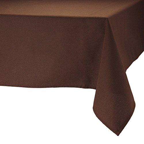 MAJEST(マジェスト) テーブルクロス 正方形220cmx220cm 布地 ブラウン 無地 繋なし 吸水タイプ