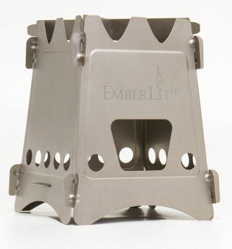 New Emberlit stove-UL titanium(エンバーリット ストーブ ウルトラライト チタン製)クロスバー及びストーブ収納袋、カーボンフェルト付属 [並行輸入品]