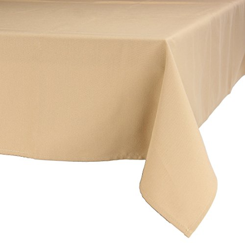 MAJEST(マジェスト) テーブルクロス 長方形160cmx240cm 布地 サンドルウッド 無地 繋なし 吸水タイプ