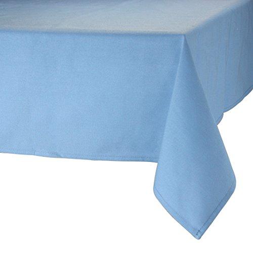 MAJEST(マジェスト) テーブルクロス 長方形160cmx260cm 布地 スカイ・ブルー 無地 繋なし 吸水タイプ