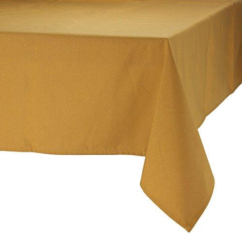 MAJEST(マジェスト) テーブルクロス 長方形170cmx230cm 布地 ブロンズ 無地 繋なし 吸水タイプ