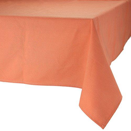 MAJEST(マジェスト) テーブルクロス 長方形190cmx280cm 布地 パンプキン 無地 繋なし 吸水タイプ