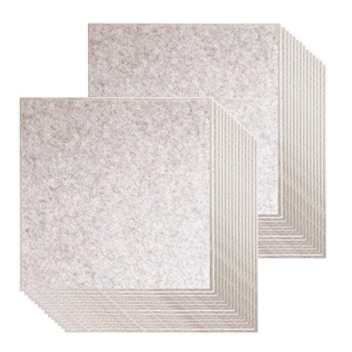 【賃貸でも安心】ピンで取り付け可能な 壁面「吸音」フェルトパネル 45度カット 40×40cm - ベージュ - 30枚セット フェルメノン DS-FB-4040C-BE-CTN