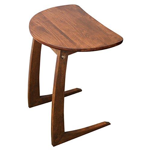 クーパーFS サイドテーブル ナイトテーブル 半円テーブル 木製 アルダー無垢 幅45cm ブラウン -