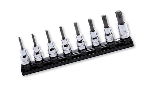 コーケン Z-EAL 3/8(9.5mm)SQ. トルクスビットソケットレールセット 全長50mm 8ヶ組 RS3025Z/8-L50