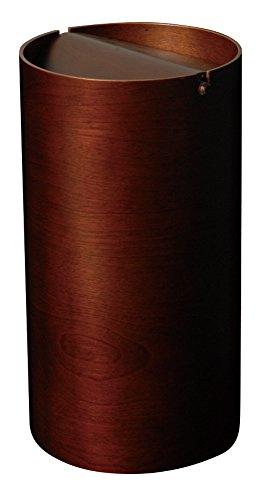 SAITO WOOD ごみ箱 ダストボックス 回転蓋 スリム DH970A 8L ダークブラウン