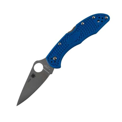 Spyderco(スパイダルコ) デリカ4 VG-10 フルフラットブレード ブルー 直刃 C11FPBL