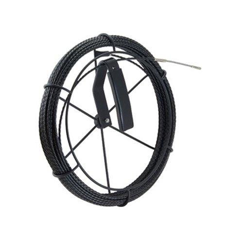 デンサン 呼び線リール付セット(ブラックスリムライン30m) BX-4030J-RL