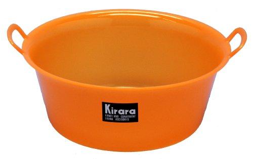 蝶プラ工業 たらい 最新アイテム キララ 爆売りセール開催中 471323 12 オレンジ