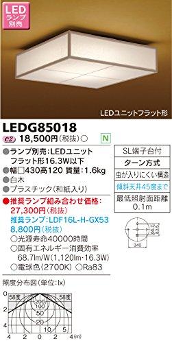 東芝(TOSHIBA) LED屋内小形シーリングライト (LEDランプ別売り) LEDG85018