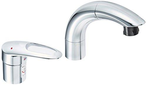 TOTO 洗面用水栓 シングル混合水栓 TLNW36E (シャンプー水栓・ホース付き)