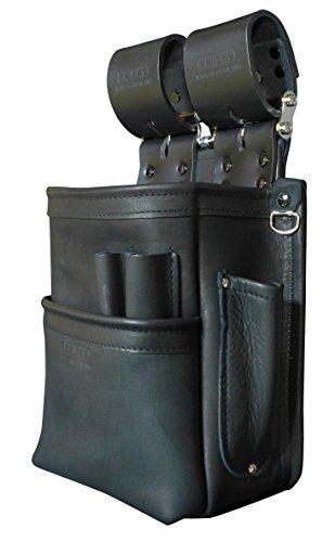 KNICKS(ニックス) KB-201SPDX 自在型チェーンタイプ総グローブ革2段腰袋(ブラック)