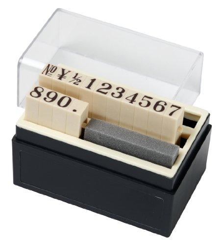 レビューを書けば送料当店負担 豊富な品 新朝日 スタンプ SACOS 洋数字 ENJ-11 1号 14本組
