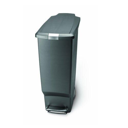 simplehumanプラスチックスリムステップカン40L グレー CW1363