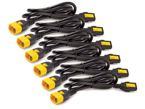 APC Power Cord Kit (6 ea) Locking C13 to C14 1.8m AP8706S