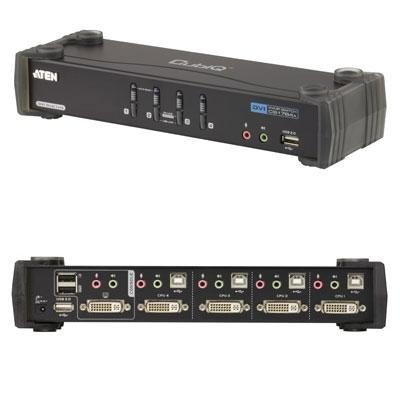 プリンストンテクノロジー ATEN社製 4ポートデュアルリンクDVI対応KVMPスイッチ CS1784A/ATEN