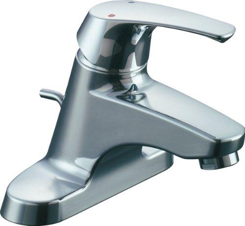 LIXIL(リクシル) INAX 洗面用 台付 シングルレバー混合水栓(湯側開度規制付) ゴム栓式 LF-B355SHK