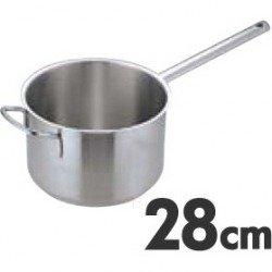 Murano(ムラノ) インダクション ステンレス片手深型鍋(蓋無)28cm AKTD105