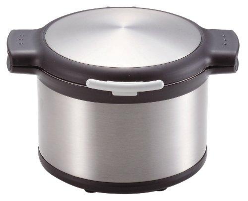 パール金属 エコック 真空 保温 調理 鍋 3.2L ステンシルバー H-8098
