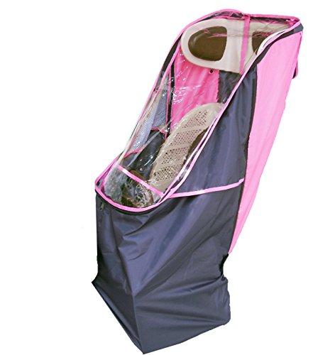 LAKIA(ラキア) 子供乗せ自転車用リア用チャイルドシートレインカバー ピンク