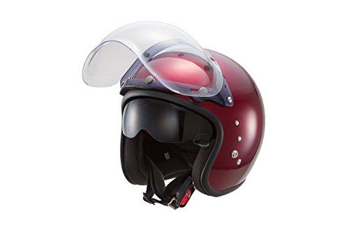 東単 OWL(アウル) ハイブリッドスモールジェットヘルメット キャンディーレッド フリー サイズ TT380