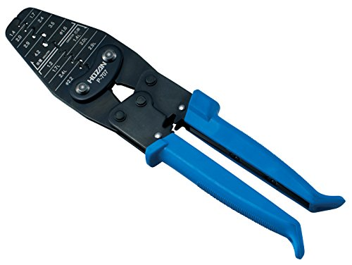 ホーザン(HOZAN) 圧着工具(オープンバレル型コンタクト用) 圧着ペンチ 15種類の大小様々なダイス 幅広い端子に対応 P-707