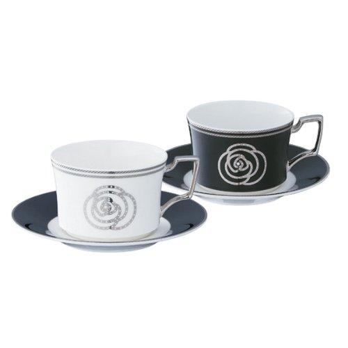 Noritake(ノリタケ) ボーンチャイナ エイダン ティー・コーヒー碗皿ペアセット (色変り) P93687/4867-12