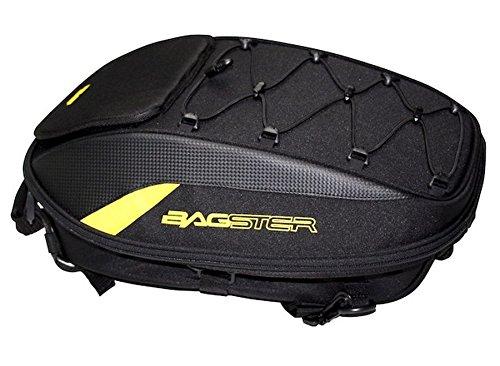 BAGSTER(バグスター) シートバッグ SPIDER(スパイダー) 15-23L 44x30x18cm ブラックxイエロー 4899J