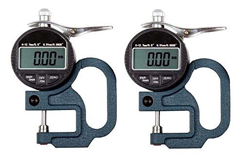 デジタル シックネスゲージ ( 厚さ 測定器 ) 0.01mm (2個セット)