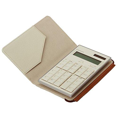 amadana 電子計算機 レザーケースセット (ホワイト) LCA-704-WH