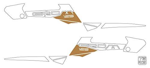 ワールドウォーク グロム用 グラフィックステッカー 2色 白×金 grom-2_wg