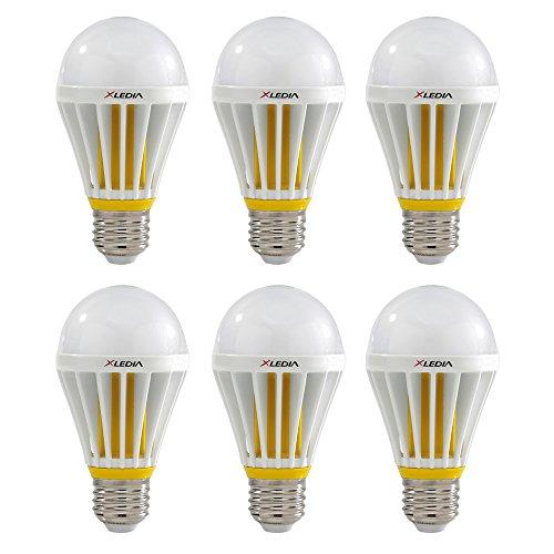 XLEDIA LED電球 広配光タイプ 一般電球 100W形相当 1650lm 電球色 E26口金 密閉型器具対応 3年保証 台湾製 X100L 6個入