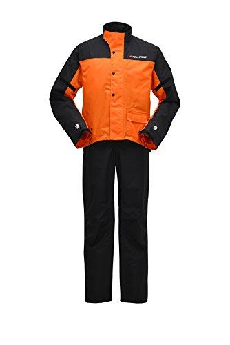 ヤマハ(YAMAHA) バイク用レインスーツ セパレート YAR19 CYBER TEX2 ダブルガード オレンジ 4L