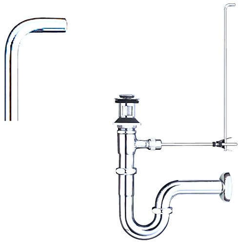 LIXIL(リクシル) INAX 洗面器・手洗器用セット金具 ポップアップ式排水金具(呼び径32mm) 床排水Sトラップ(排水口カバー付) LF-270SALC