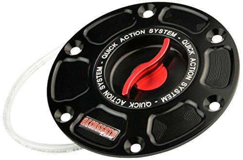 ACCOSSATO(アコサット) アルミ フューエルタンクキャップ Ver.3 アプリリア RS250(98-03) RSV1000 Mille/R(98-03)他 レッド