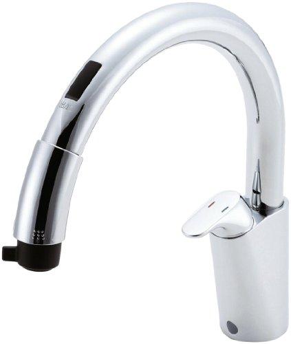LIXIL(リクシル) INAX キッチン用 台付 シングルレバー混合水栓 タッチレスタイプ 整流 スポット微細シャワー ホース引出し 吐水部長さ239mm RSF-671