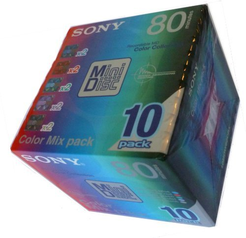 SONY(ソニー) 録音用ミニディスク カラーミックスパック 10枚入り 10MDW80CRX