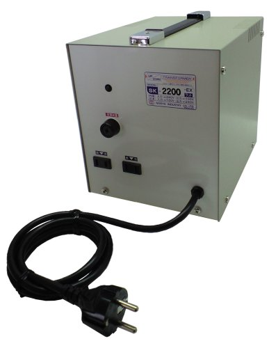 日章工業 トランスフォーマSKシリーズ(電圧アップ・ダウン両用タイプ)AC240V⇔AC100V2200W SK-2200EX