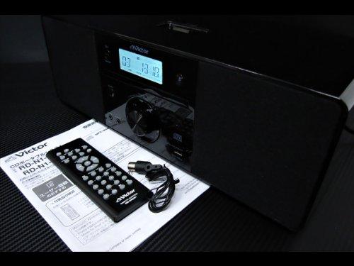 JVCケンウッド JVC iPod対応CDポータブルオーディオシステム ブラック RD-N1-B
