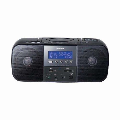 TOSHIBA CUTEBEAT SD/USB/CDラジオ(リモコン付) ブラック TY-SDK70(K)