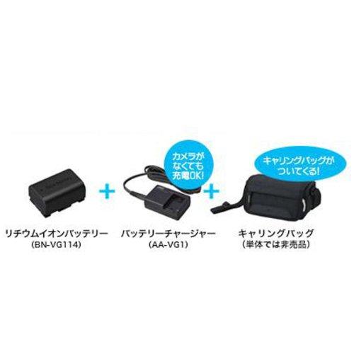 JVCケンウッド JVC ビデオカメラアクセサリーキット BN-VG114, バッテリーチャージャー, キヤリングバッグ VU-VG10K