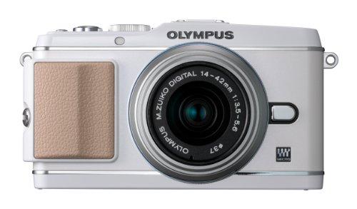 OLYMPUS ミラーレス一眼 PEN E-P3 レンズキット ホワイト E-P3 LKIT WHT
