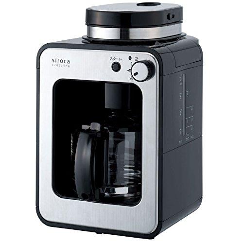 シロカ コーヒーメーカー 全自動 ガラスサーバー ブラック STC-401