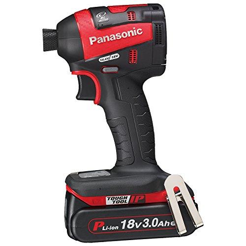 パナソニック(Panasonic) 充電インパクトドライバー 18V 3.0Ah 赤 EZ75A7PN2G-R