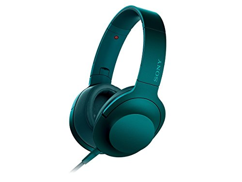 ソニー SONY ヘッドホン h.ear on MDR-100A : ハイレゾ対応 密閉型 折りたたみ式 ケーブル着脱式/バランス接続対応 リモコン・マイク付き ビリジアンブルー MDR-100A L