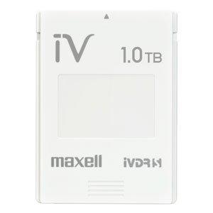 マクセル iVDR-S規格対応リムーバブル・ハードディスク 1.0TB簡易包装パック ホワイトmaxell カセットハードディスク「iV(アイヴィ)」 M-VDRS1T.E.WH.K