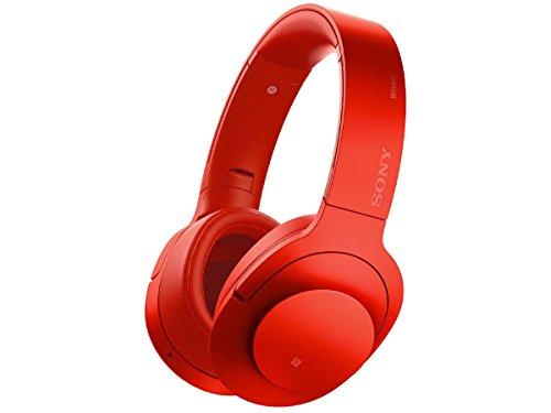 ソニー SONY ワイヤレスノイズキャンセリングヘッドホン h.ear on Wireless NC MDR-100ABN : ハイレゾ/Bluetooth対応 マイク付き シナバーレッド MDR-100ABN R