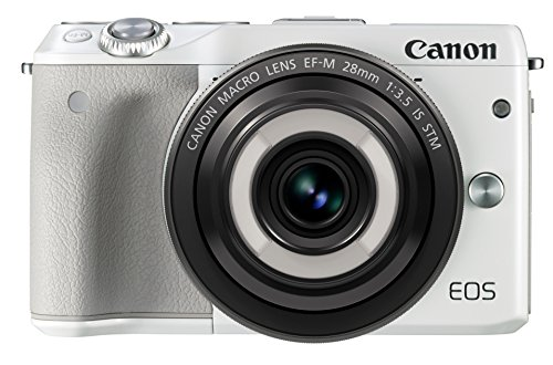 Canon ミラーレス一眼カメラ EOS M3(ホワイト)・クリエイティブマクロ レンズキット EF-M28mm F3.5 IS STM付属 EOSM3WH-CMLK