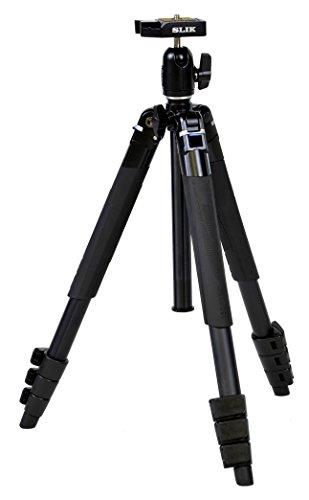 SLIK 三脚 エアリー M100 4段 レバーロック式 20mmパイプ径 自由雲台 クイックシュー式 107065